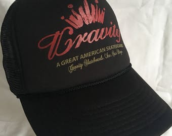 Gravity skateboards trucker hat-skater