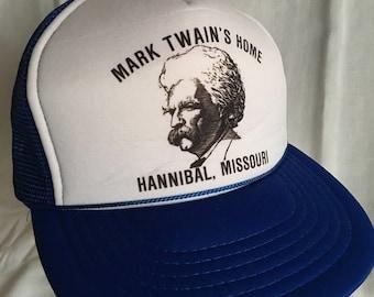 Vintage Mark Twain trucker hat-cap