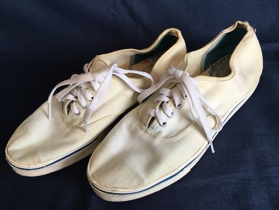 Vintage 70 S Canvas Tennis Shoes Ramones Stiv Bators Etsy