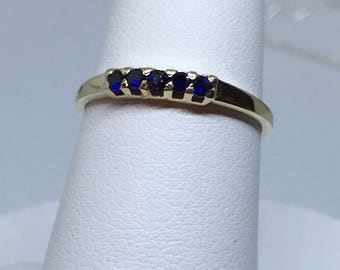 14 K  Blue Sapphire Ring ( Free Shipping)