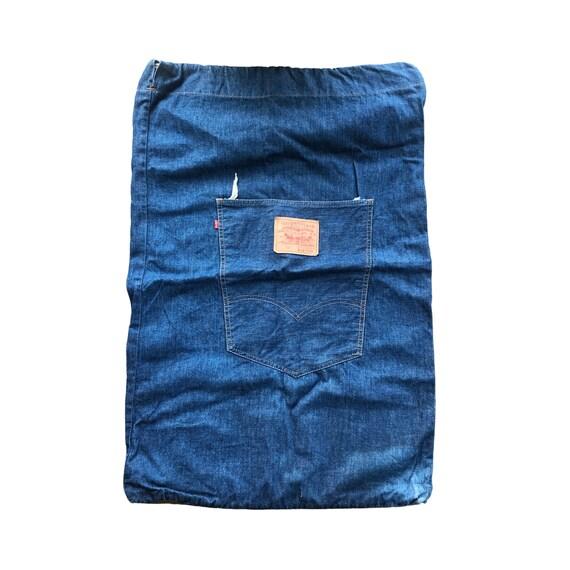 Vintage 501 Levis Laundry Bag   Levis 501 Denim Ba