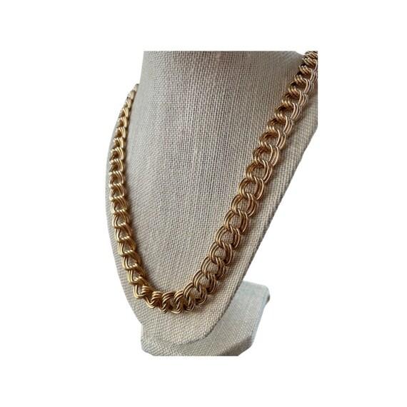 Vintage Napier Chunky Gold Chain Necklace   Napier