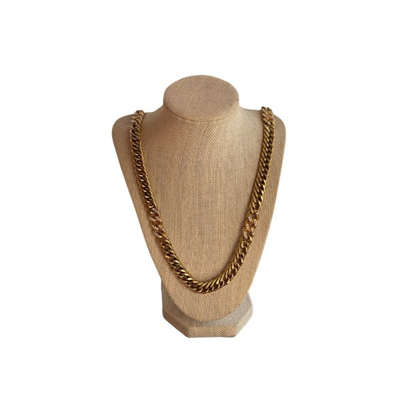 Vintage Chunky Gold Chain Necklace   90s Jewelry  