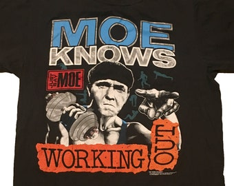 2cdc171b Vintage 3 Stooges Shirt / Moe / Comedy / 1990 / Work Out / Three stooges /  Size L