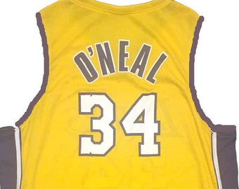 4ba21ee7683 Vintage Shaq Jersey / Los Angeles Lakers / shaquille o neal / rare / NBA  Basketball / Size XL
