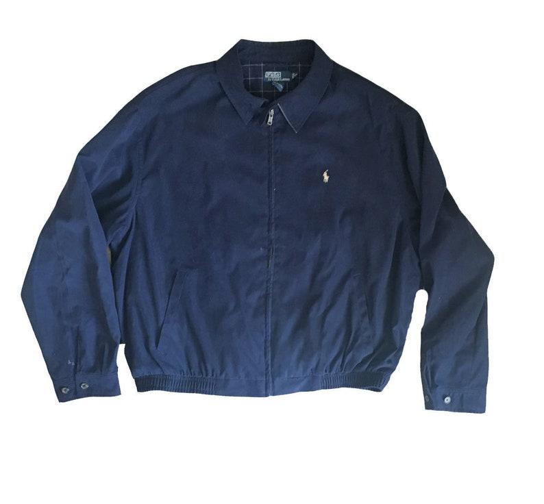 2xl Vintage Jacket Bear Coat Lauren Blue Windbreaker Light Ralph Polo Size n08Nwvm