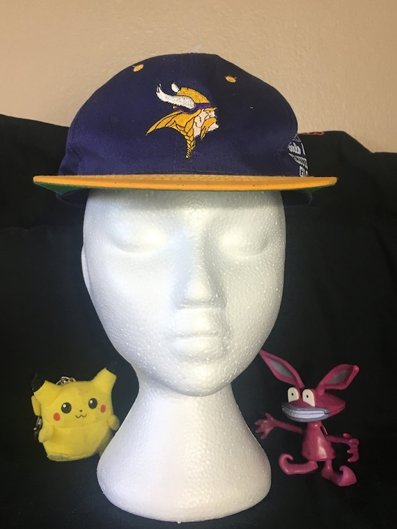 Minnesota Vikings Hat Snapback Vikings Vintage Vikings  98d053850258