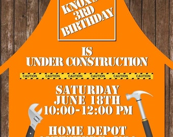 Home Depot Birthday Invitation