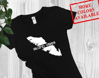 Vancouver Island Tee - ISLAND VIBES - Womens BC Tee, West Coast Tee, West Coast Shirt, Vancouver Island Shirt, Van Isle Tee, Best Coast Tee