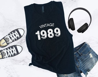 Vintage 1989 Muscle Tank Top For Woman