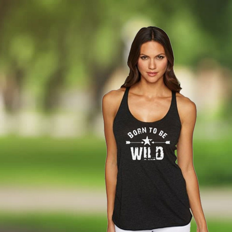 181dc3b8 Cool Graphic Tanks for Women Born to be Wild Badass Ladies | Etsy