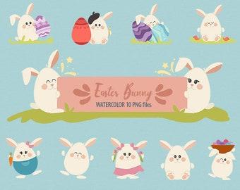 Easter bunny Easter Rabbit  Easter clipart Happy Easter clipart Easter download