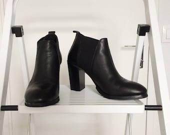 noir bottines talon élégant et minimaliste   urbain look et simple fa034c849f7