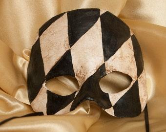 Herlequin Half-Mask