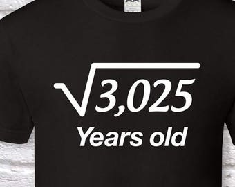 55 Years Old Square Root 55th Birthday Gifts For Men Gift Tshirt Father Day