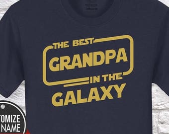 The Best Grandpa In Galaxy Gift Birthday Fathers Day Tshirt Idea Pregnancy Father