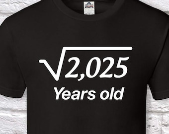 45 Years Old Square Root 45th Birthday Gifts For Men Gift Tshirt Father Day