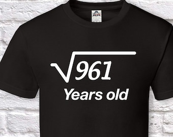 31 Years Old Square Root 31st Birthday Gifts For Men Gift Tshirt Father Day