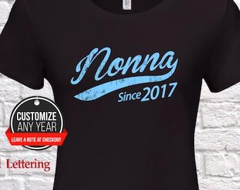 03fd9e53 Nonna since (any year) Nonna gift , Nonna birthday , Mothers Day , Nonna  tshirt , Nonna gift idea , Baby shower, Pregnancy Association