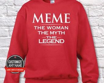 55a7621c4 Meme The Woman The Myth The Legend, Grandma Gift, Meme Birthday, Mother's  Day, Meme Hoodie, Meme Gift Idea, Meme Gift, Baby Shower, birthday
