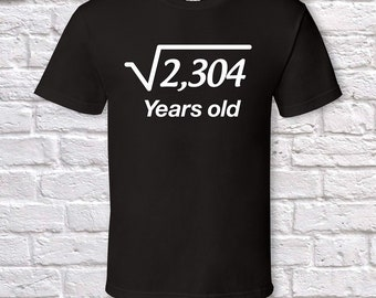 48 Years Old Square Root 48th Birthday Gifts For Men Gift Tshirt Father Day