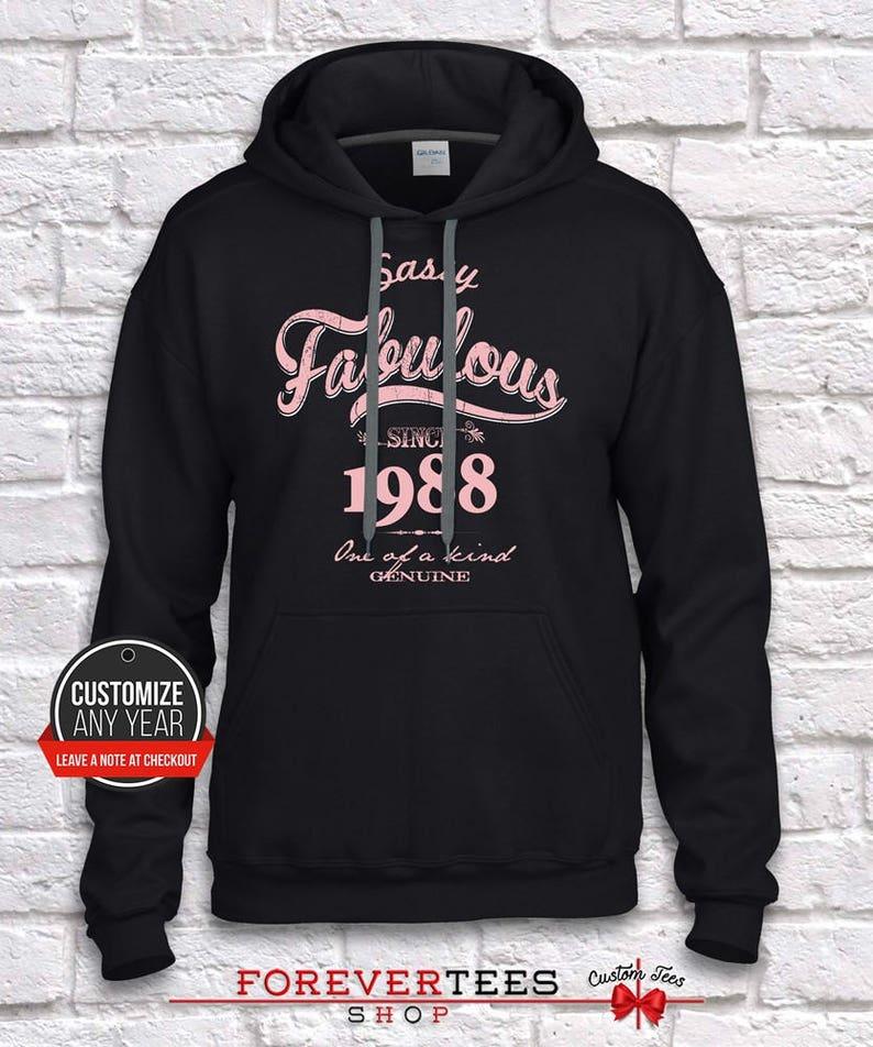31st birthday hoodie 1988 31st birthday gift gift for 31st BirthdaySassy fabulous since 31st birthday gifts for women 31st birthday