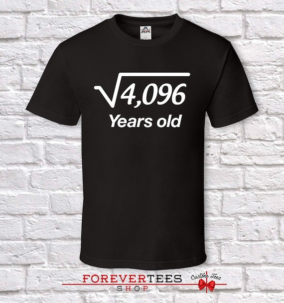 64 Years Old Square Root 64th Birthday Gifts For Men