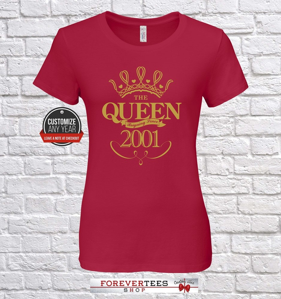 bb54982245cd Queen since 2001, 18th birthday, 18th birthday gifts for gift, women, 18th