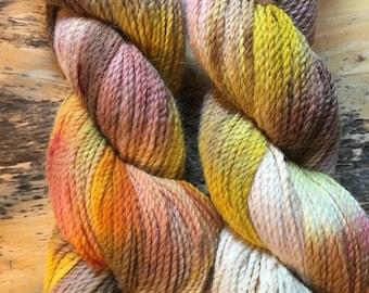 Angora/Merino DK weight hand dyed yarn, bunny yarn, super soft yarn, hand dyed yarn,