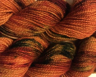 hand dyed, superwash highland wool sock yarn