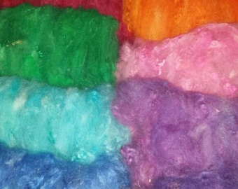 hand carded Romney wool batts