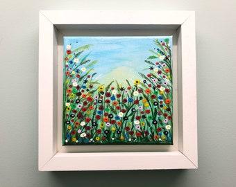Mini Meadow flowers painting wall art