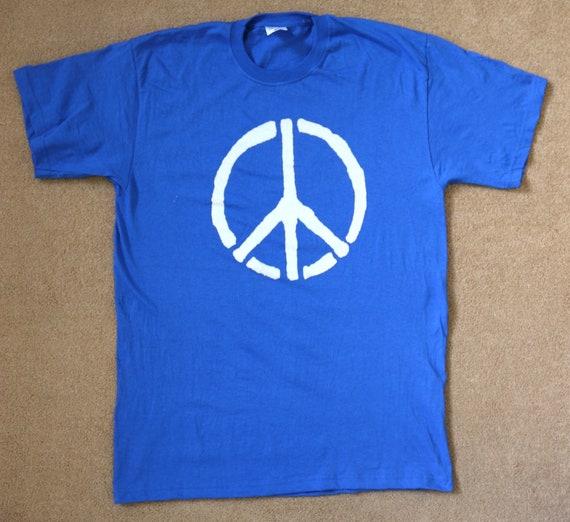 Retro Peace Sign CND Logo Hippy Unisex T-Shirt Top Tee S-XXL