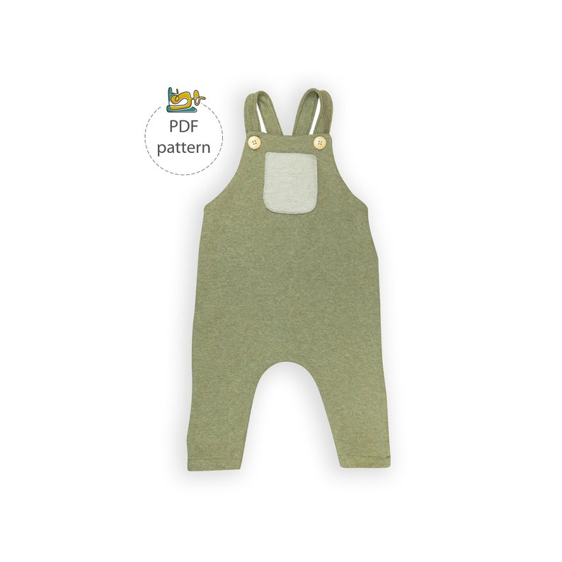 Kids Dungaree pattern overall sewing pattern romper pattern image 0
