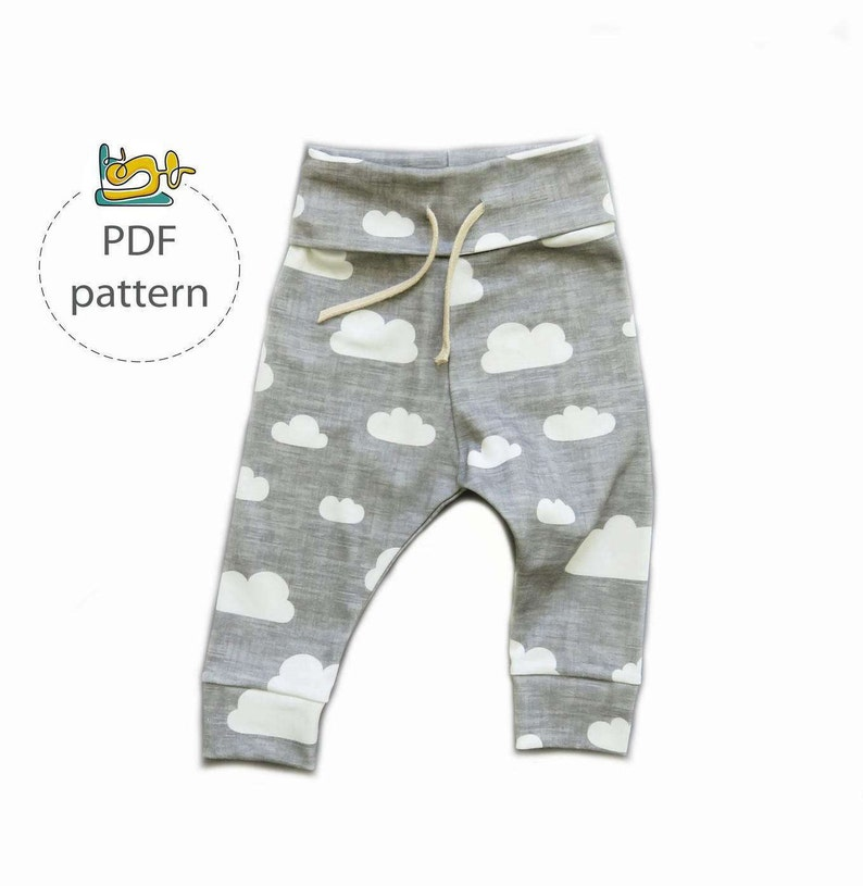 Baby pants sewing pattern jogger pants pattern baby leggings image 0