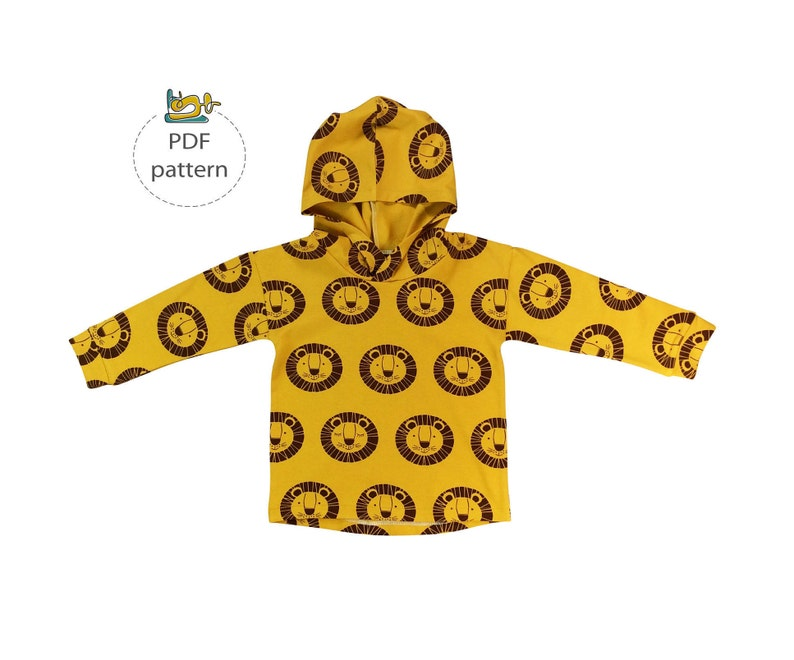 Hoodie Sewing pattern children sewing patterns slouchy image 0