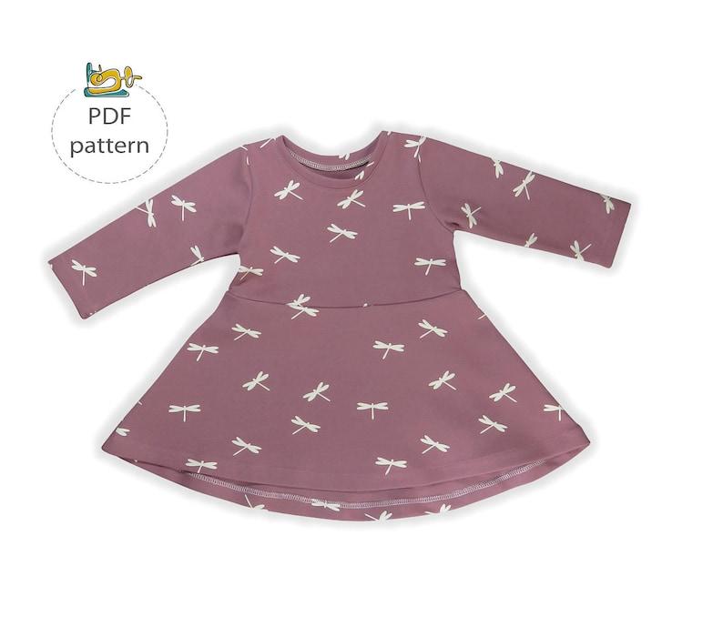 Girls dress sewing pattern skater dress pattern baby dress image 0