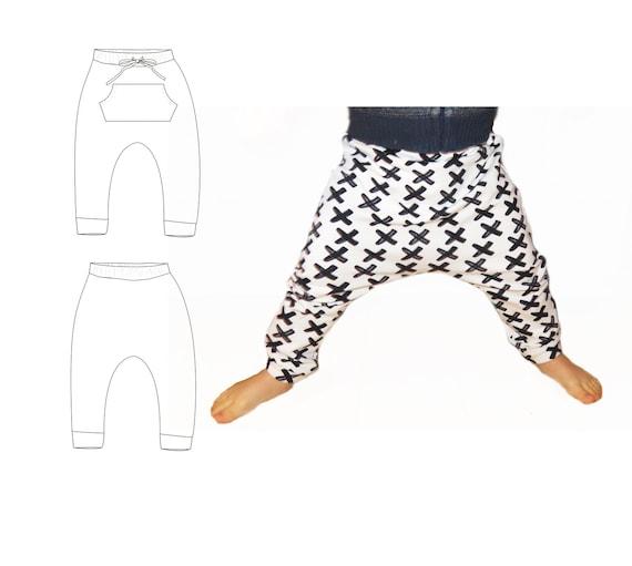 Harem pants pattern baby harem pants sewing pattern pdf | Etsy