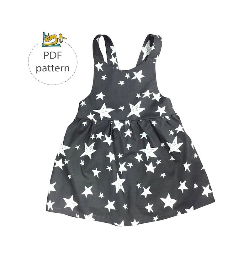 Baby pinafore dress pattern apron dress sewing patterns pdf image 0