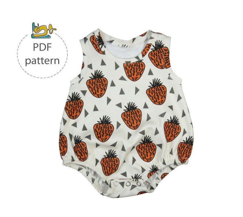 Baby romper sewing pattern bubble onesie pattern PDF baby image 0