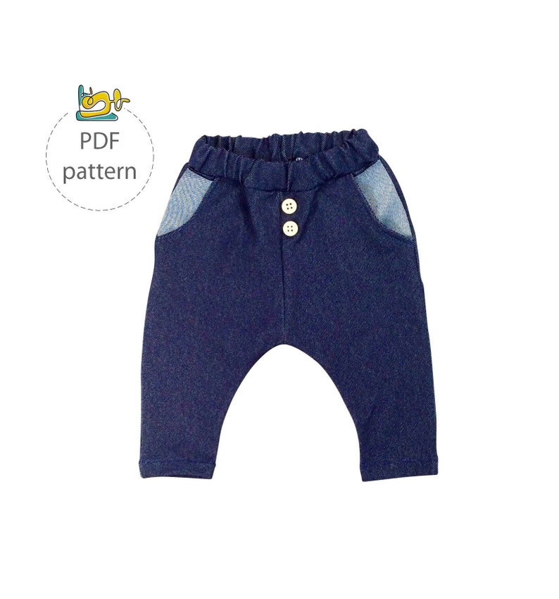 Baby sewing pattern pants sewing pattern  pocket pants image 0