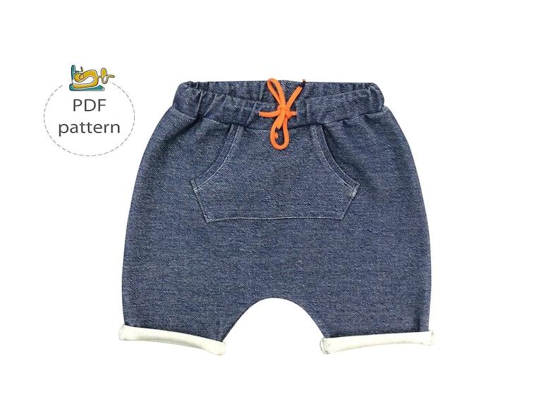 3541a51edbc4 Baby shorts pattern Baggy shorts kids pattern toddler harem