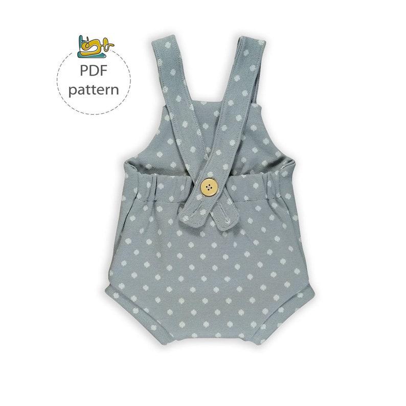 Baby romper pattern newborn romper sewing pattern knit image 0