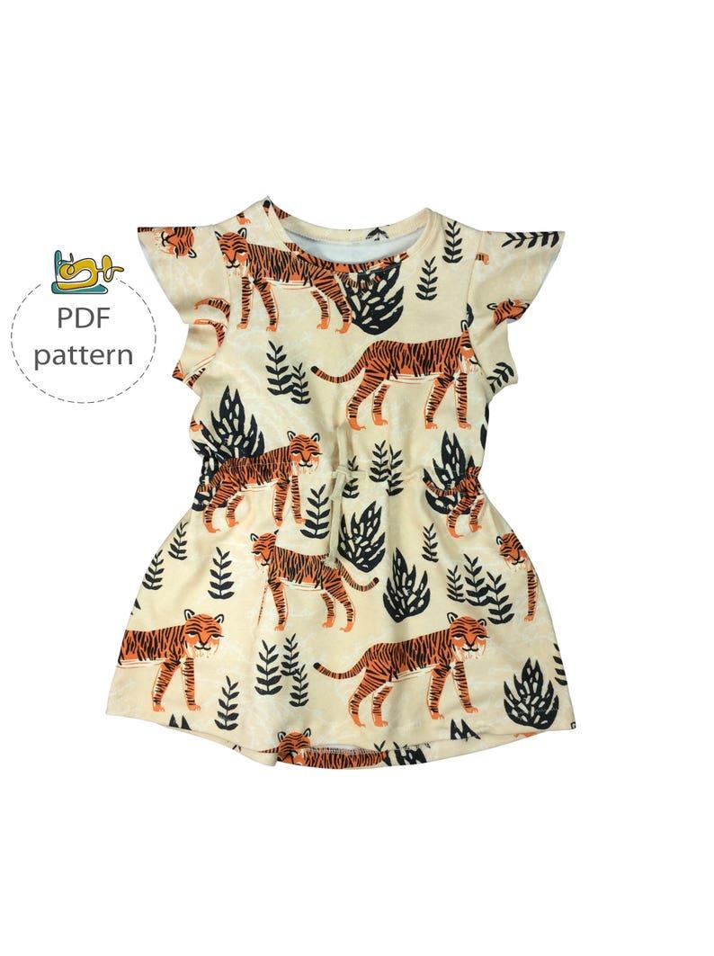 Baby dress pattern pdf baby pattern drawstring dress image 0