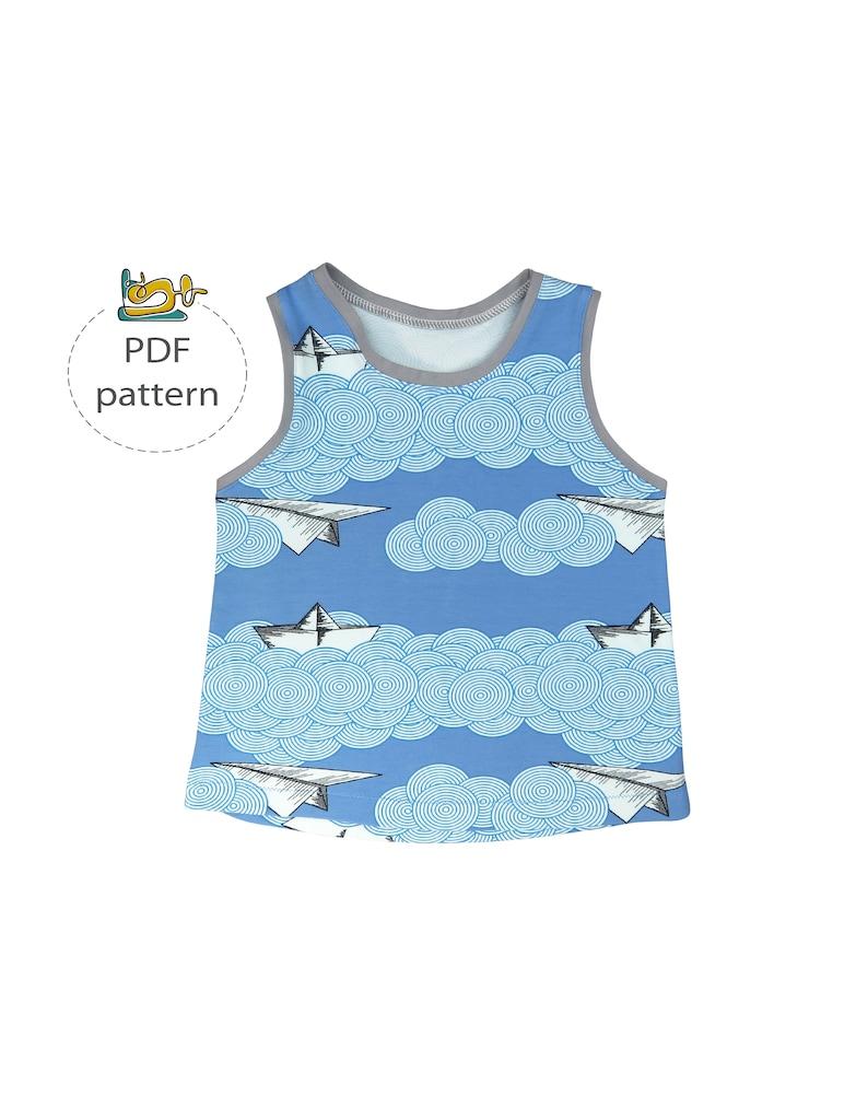Baby tank top pattern modern baby sewing pattens pdf sewing image 0