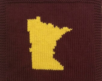 Hand Knit Minnesota Cotton Washcloth Dishcloth