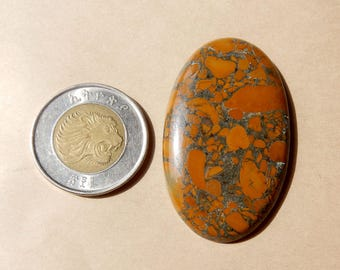 49x30x6 MM Size AAA Quality Natural Fruit Jasper Oval Shape Cabochon AAA++ Quality Loose Gemstone Cabochon 78.80 Carat In low Prize BL33