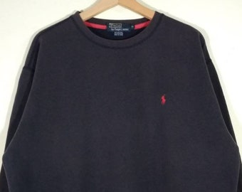 Polo by Ralph Lauren Embroidered Small Pony Logo Crewneck Blue Faded  Sweatshirt  1278cd6699e