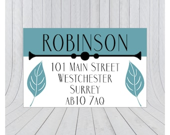 36 x Return address labels, address stickers, Personalised address stickers, Custom address labels, 017