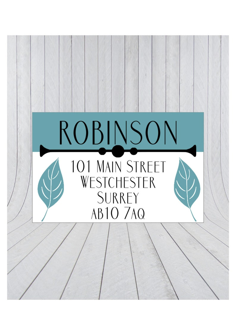 36 x return address labels address stickers personalised address stickers custom address labels 017